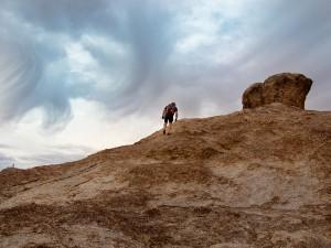 Weary climber