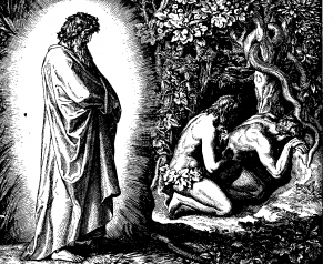 Schnorr von Carolsfel, from The Bible in Pictures, Hiding from God